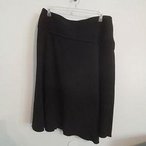 Asymmetrical full skirt black 16